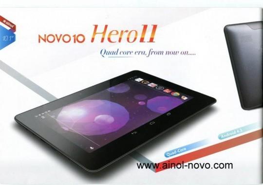 Ainol Nova 10 Hero II: tablet quad-core con Android 4.1 a 210$