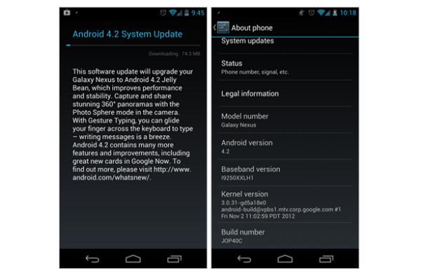 Android Jelly Bean 4.2: iniziato il roll out per Galaxy Nexus