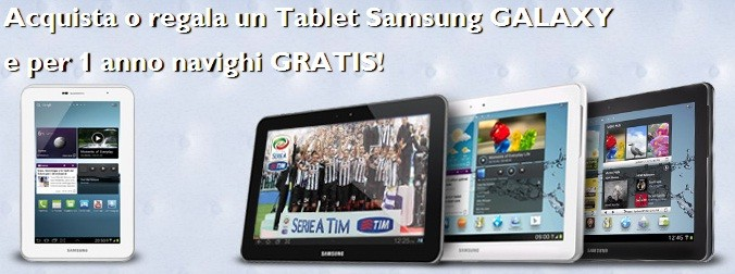 TIM: un anno di Internet gratis acquistando un tablet Samsung Galaxy