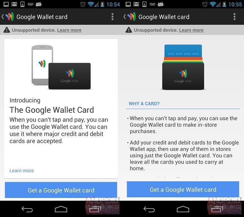 Il sito di supporto di Google conferma le Wallet Card