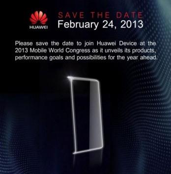 Huawei prepara un evento per il 24 Febbraio al MWC 2013