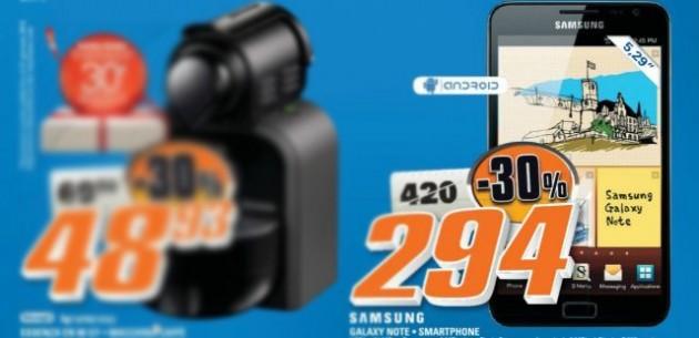 Samsung Galaxy Note a 294€ da Saturn