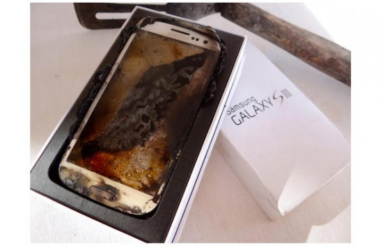 "Samsung Galaxy S III ""professionalmente cotto al microonde"" in vendita su eBay"