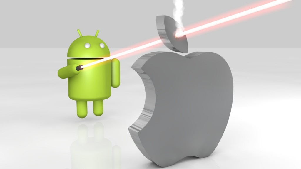 android-vs-apple-3d
