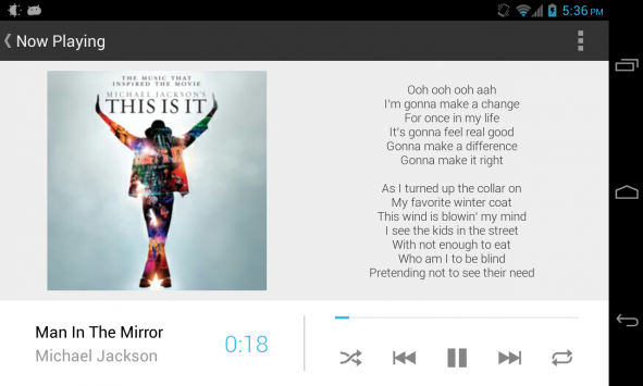 NOW Playing: nuovo player musicale in stile Google Now