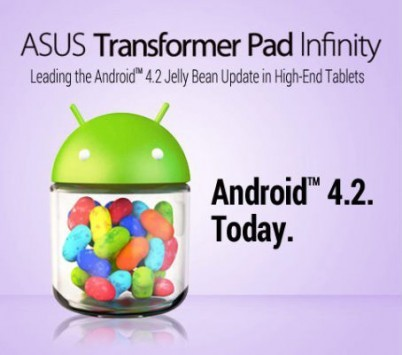 Asus Transformer Pad Infinity: disponibile l'update ad Android 4.2