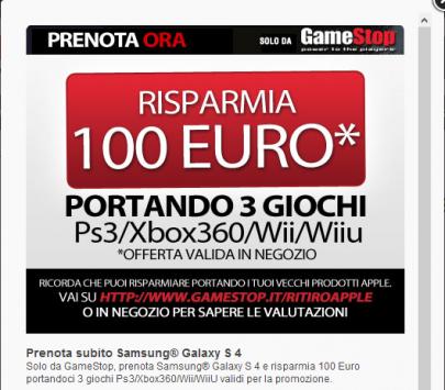 Samsung Galaxy S IV disponibile a 599€ da GameStop
