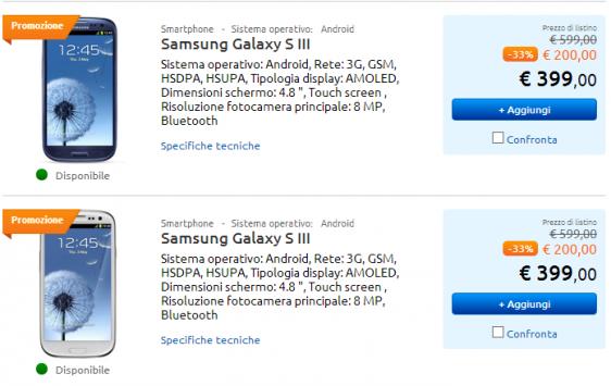 Samsung Galaxy S III: in offerta a 399€ da MarcoPolo Expert fino al 1 Maggio