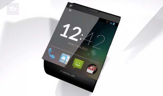 Un interessante concept di uno smartwatch Google Nexus