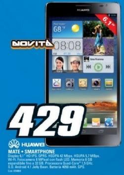 Huawei Ascend Mate disponibile a 429€ da Saturn