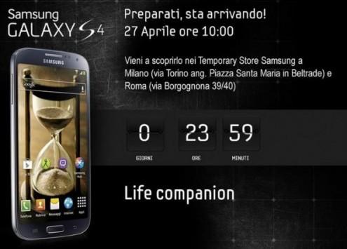 Samsung Galaxy S IV: da domani in Italia, ma nei Temporary Store avrete una piccola sorpresa