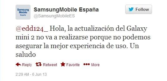 Samsung Galaxy Mini 2: annullato l'update ad Android 4.1 Jelly Bean
