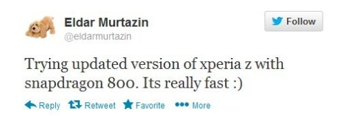Sony Xperia Z: nuova versione in arrivo con Snapdragon 800 e display simile all'HTC One?