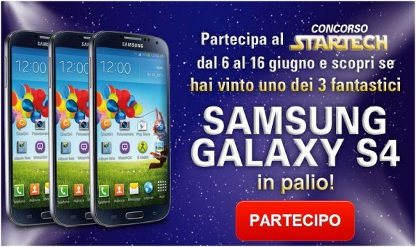 Vinci un Samsung Galaxy S4 con Unieuro