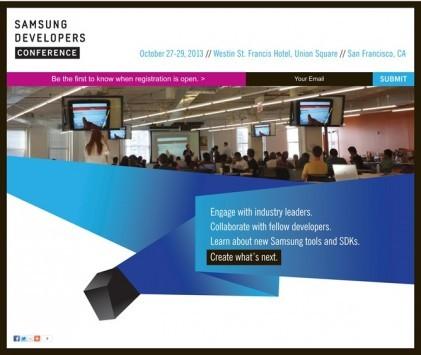 La prima conferenza Samsung dedicata agli sviluppatori, il 27 Ottobre a S. Francisco