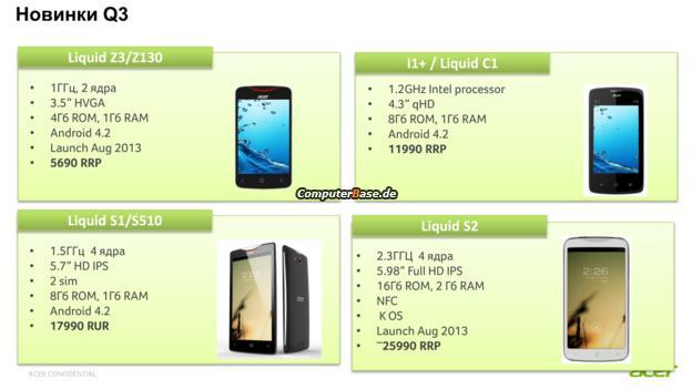 Acer Liquid S2: smartphone con Snapdragon 800 e 2 GB di RAM in arrivo all'IFA?