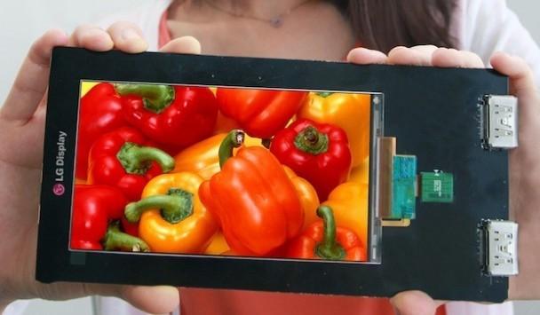 LG presenta ufficialmente il primo display per smartphone Quad HD: 2,560 x 1440 pixel e 538 ppi