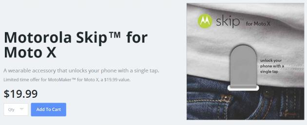 Motorola Skip: ecco una clip NFC compatibile col nuovo Moto X