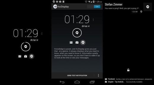 AcDisplay: ecco l'app che porta l'Active Display di Motorola su tutti gli smartphone Android