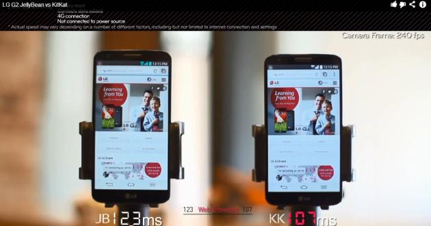 LG illustra i miglioramenti portati da KitKat al suo G2 in un video