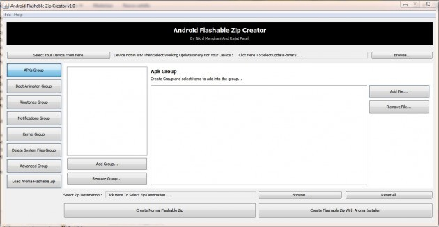 [Guida] Creare zip flashabili da recovery con Android Flashable Zip Creator