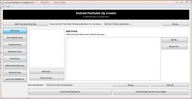 [Guida] Creare zip flashabili da recovery con Android Flashable Zip Creator