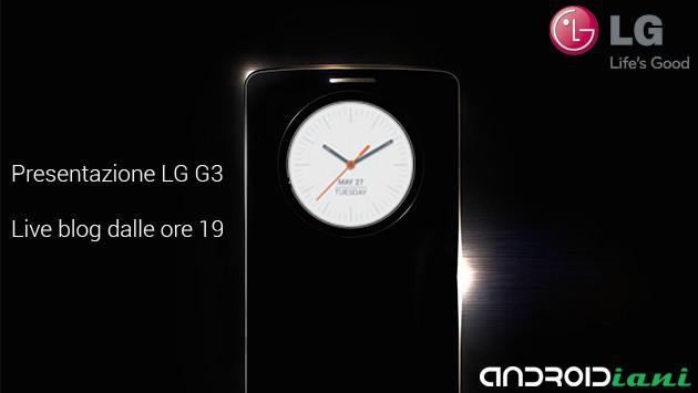 LG G3: Segui la presentazione in live streaming dalle 18.30