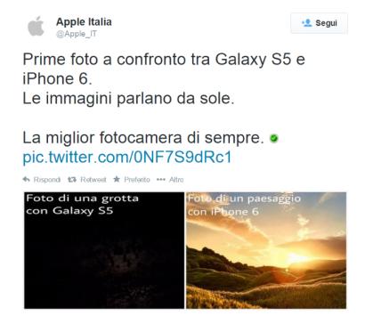 Il finto account Apple su Twitter fa impazzire gli utenti italiani