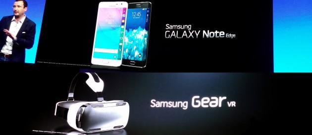 Samsung Unpacked 2014: a sorpresa Galaxy Note Edge e Gear VR
