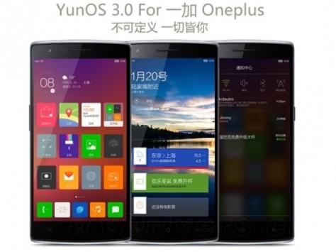 OnePlus One: disponibile la prima ROM YunOS di Alibaba