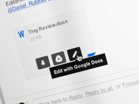 Gmail, gli allegati Office ora si modificano direttamente in Drive