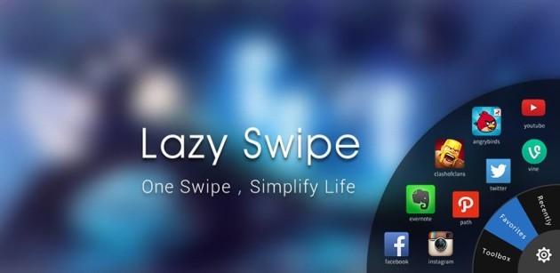 Lazy Swipe, applicazioni e notifiche a portata di swipe