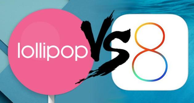 Meno crash su Lollipop rispetto a iOS8, secondo uno studio