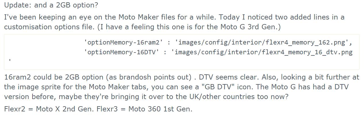 Moto G  2015  getting DTV option on Moto Maker    MotoG