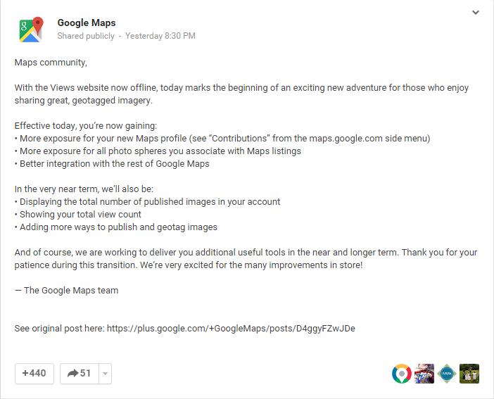 Google Maps g+