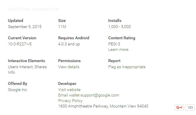 Google Wallet Play Store