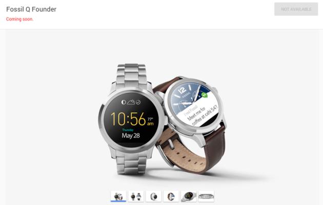 Il Fossil Q Founder compare anche sul Google Store (negli USA)