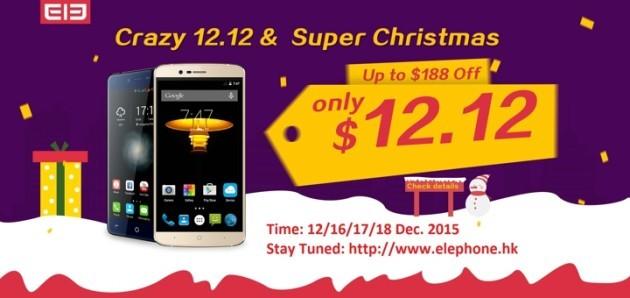 Elephone: tanti smartphone in offerta a 12$ il 12/16-18 Dicembre