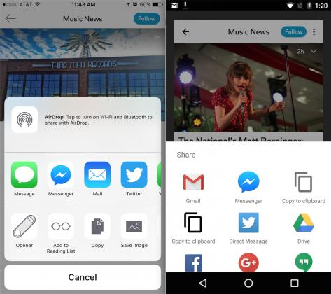 Flipboard l'update migliora la condivisione su FB Messenger (1)