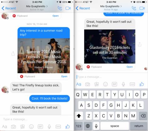 Flipboard l'update migliora la condivisione su FB Messenger (2)