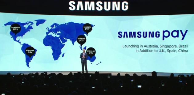 Samsung Pay ufficilizzato per Regno Unito, Spagna, Australia, Cina, Singapore e Brasile