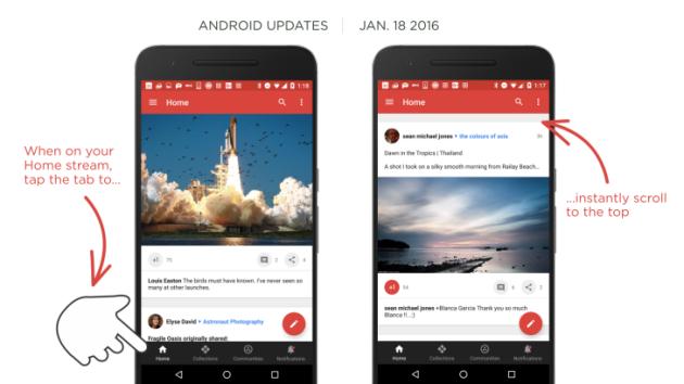 Google+ per Android si aggiorna alla versione 7.1