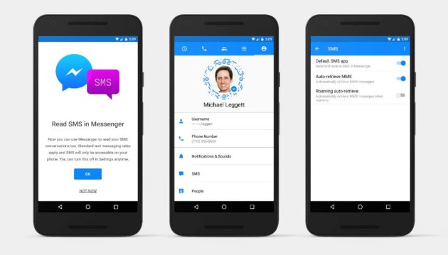 Facebook Messenger ora supporta gli SMS