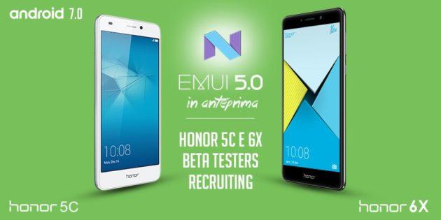 Honor 6X e 5C ricevono la beta di Android 7.0 Nougat