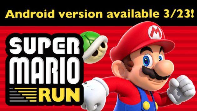 Super Mario Run debutterà su Android il 23 Marzo