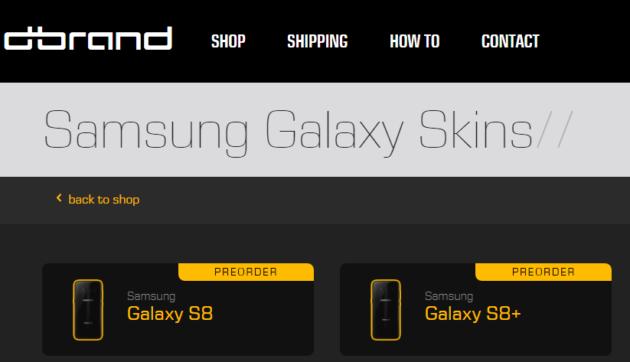Galaxy S8: nuovo foto e skins disponibili al preorder