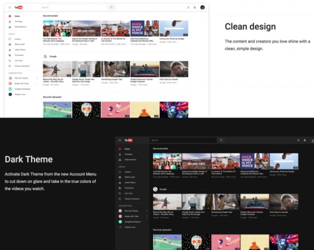 YouTube si rifà il look, ecco la nuova interfaccia in material design