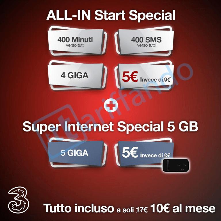 3 Italia ALL-IN Start Special proposta a soli 5 euro (2)
