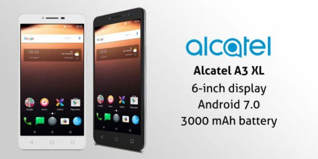 Alcatel A3 XL debutta in Italia a 189€