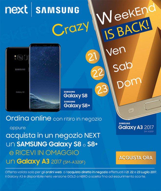 Galaxy S8 ed S8 Plus con Samsung Galaxy A3 in omaggio su Next (2)